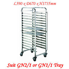 Stainless Steel 15 Tier Gastronorm Tray Trolley (ZY332) suit 2/1 or 2 x 1/1 tray
