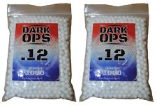 2000 Dark Ops Airsoft BBs .12g 6mm - Perfect Spherical Sniper Rifle Pistol Ammo