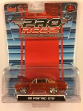 Maisto Pro RodZ '66 1966 Pontiac GTO Orange Die-Cast 1/64 Scale Opening Hood!