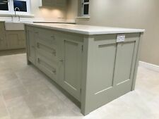 painted kitchen island unit cabinet handmade