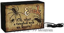 PBK Halloween Decor - Light Box Eeek Spiders #19738