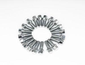 20 PCs BMW Chrome M12x1.5 Lug Bolts 32mm Shank Conical Seat Wheel Lug Bolts