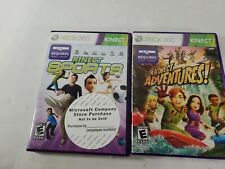 XBOX 360 KINECT LOT OF 2 KINECT SPORTS & ADVENTURES