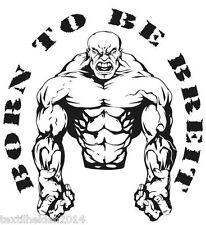 Born to be BREIT Fitness Sport Kraftsport Bodybuilding Sport Shirt Neu