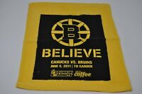 2011 BOSTON BRUINS PLAYOFF RALLY TOWEL STANLEY CUP FINALS Game #3 Canucks