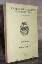 BULLETIN ET MEMOIRES 1989 SOCIETE D'EMULATION DE MONTBELIARD