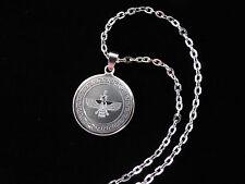 Round Silver Pt Farvahar Necklace Iranian Persian Gift Iran Persia Zoroastrian