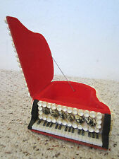 SEASHELL DECORATED, MINI PIANO, JEWELRY BOX