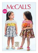 McCalls Easy SEWING PATTERN M6943 To Make Toddlers Dresses