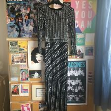 French Connection black sequin dress, midi length 1920s style, size 6