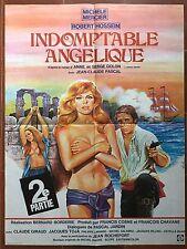 Affiche INDOMPTABLE ANGELIQUE  Robert Hossein MICHELE MERCIER Borderie 60x80cm *