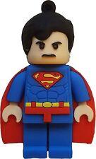 8GB Superman USB Lego Flash Drive, Memory Storage Device, Thumb Drive