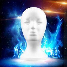 New Female Styrofoam Mannequin Manikin Head Model Foam Wig Glasses Display WP