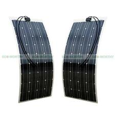 200W Semi Flexible Solar Panel 2x 100W PV Mono for Car SUV Boat Yacht Camping