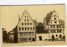 PHOTO CDV Alsace Guillon Strasbourg architecture deux maisons vintage albumen