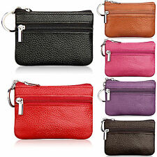 Unisex Soft Faux Leather Small Purse Pouch Wallet For Coin Keys Cards Money Bag
