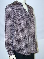 Daisy Fuentes Brown Long Sleeve V-Neck Top Womens Size Small 4 6