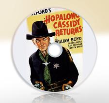 Hopalong Cassidy Returns (1936) DVD Classic Western Film / Movie William Boyd