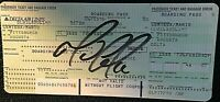 MARIO LEMIEUX SIGNED RARE ORIG. 1995 PERSONAL DELTA AIRLINES BOARDING PASS W/JSA
