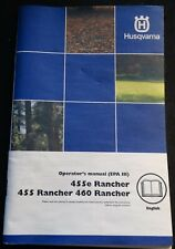 2009 Husqvarna Chain Saw 455 & 460 Rancher Operators Manual P/N 1151382-95 (225)
