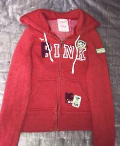 Victoria's Secret PINK Red Zip Up Hoodie