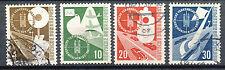 Bundespost  167 - 170 gebruikt met kleine gebreken
