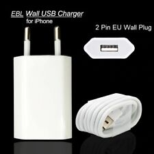 EU USB Wall Plug Charger & Lightning USB cable for iPhone X,Xs,Xr,8,7,6,5,5C,SE