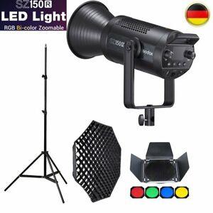 Godox SZ150R RGB LED Lampe Videolicht + 95cm Grid Softbox + Stativ + BD-04 Set