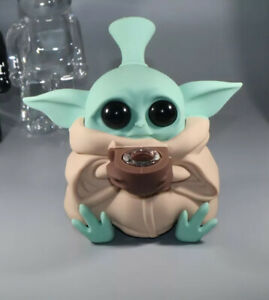 Collectible Baby Yoda Silicone Pipe Smoking Glass Bowl-Star Wars Tobacco Bong