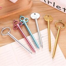 2pcs Key Shape Gel Pen Black Ink Stationery Sign Write Tool School Office Supply