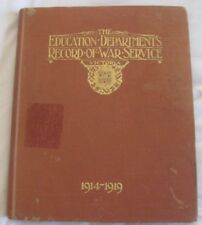 Education Departments' Record War Service Victoria 1914 - 1919 for Lt J Findlay