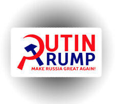 Russian Putin Trump car laptop sticker