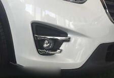 Chrome Front Fog Light Lamp Stripe Cover Trim 4pcs For Mazda CX-5 CX5 2016