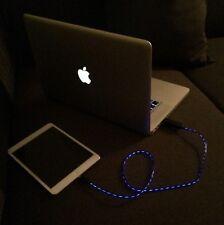LED Lightning USB Kabel schwarz / violett beleuchtet 80cm für Apple iPhone iPad