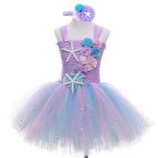 Mermaid Tutu Dress Cosplay Kids Mermaid Costume 3 4 5 6 Years Old