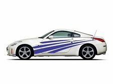 Picniva style 1 Racing Car Body Side Stripes Sticker Decal 2 Pcs