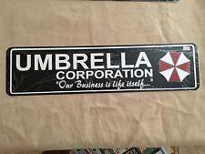 "UMBRELLA CORPORATION RESIDENT EVIL Sign 6""x24"" ALUMINUM MANCAVE GIFT"