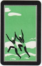 Playing Cards 1 Single Swap Card - Vintage Art Deco BEACH Girls Jumping Waves 1