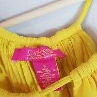 [ CATHERINE MALANDRINO ] Womens Yellow Tassel Top | Size S or AU 10 / US 6