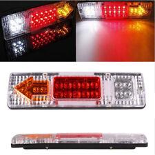 Pair 19 LED Tail Light Car Truck Trailer Stop Rear Reverse Indicator Lamp Safe R