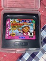 THE BERENSTAIN BEARS: CAMPING ADVENTURE game cartridge for Sega GAME GEAR