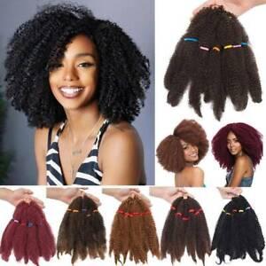 Afro Kinky Twist Dred Bulk Kinky Marley Braid Ccoeht Braiding Hair Extensions UK