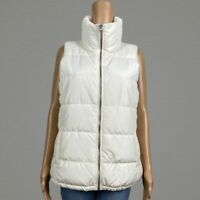 Old Navy Creme De La Creme Puffer Vest Jacket MEDIUM Full Zip Front Cream Ivory