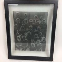 Creepy Odd Family Negative Photo Framed Transparent 12x15