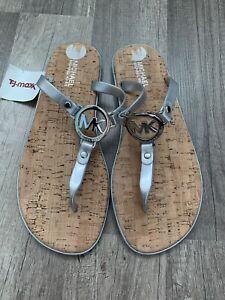 michael kors women shoes size 8 Sliver sandals