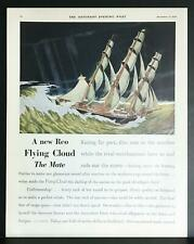 1928 Reo Motor Car Flying Cloud Clipper Ship Vintage 2-Page Print Ad