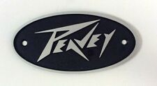 Peavey Sm Oval Blk and Silver Logo(Lighting Bolt Style)as used Some Amps & Cabs