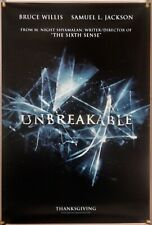 Unbreakable Ds Rolled Adv Orig 1Sh Movie Poster Bruce Willis Robin Wright (2000)