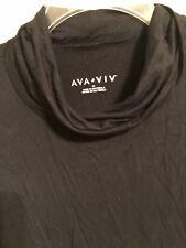 AVA & VIV Black Cowl Neck Long Sleeve Soft Sweater Plus Size 3X NWT