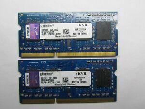 8GB Memory Kingston (2x4GB DDR3 2Rx8 PC3-10600S 1333MHZ 204 -Pin) For laptop